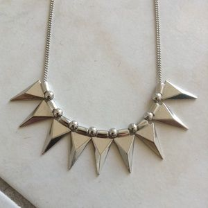 New Silver Spike Collar Necklace